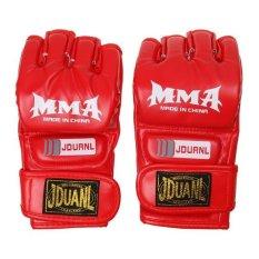 Hình ảnh MagiDeal MMA UFC Vật Lộn Thái Găng Tay Đấm bốc Túi Đào Tạo Miếng Lót Đỏ-quốc tế