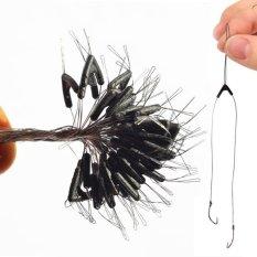 Hình ảnh Makiyo 50pcs Double Hooks Contactor Devices, Fishing Line Sub Line Bifurcation Devices, Fishing Tackle(50pcs) - intl