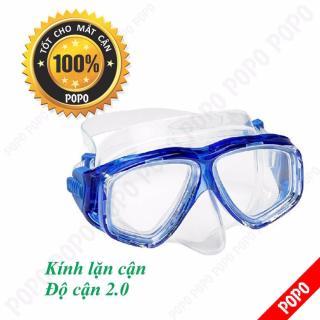 Mặt nạ lặn cận độ cận 2.0 độ, kính lặn cận mắt kính cường lực, ngăn nước tuyệt đối POPO Collection thumbnail