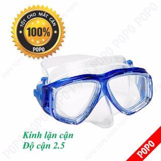 Mặt nạ lặn cận độ cận 2.5 độ kính lặn cho người cận POPO Collection mắt kính cường lực, ngăn nước tuyệt đối thumbnail