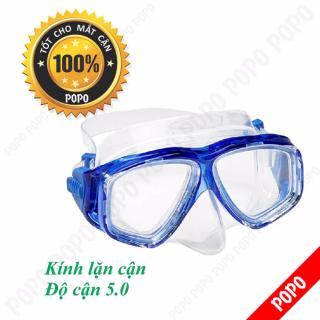 Mặt nạ lặn cận độ cận 5.0 độ, kính lặn cận POPO Collection mắt kính cường lực, ngăn nước tuyệt đối chất liệu cao cấp thumbnail