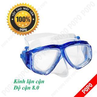 Mặt nạ lặn cận độ cận 8.0 độ, kính lặn cận mắt kính cường lực, ngăn nước tuyệt đối POPO Collection thumbnail