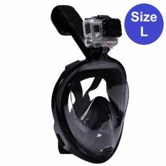 Mặt Nạ Lặn Full Face Size L Gắn được GOPRO, SJCAM Tầm Nhìn 180 độ, Ống Thở Gắn Liền Ngăn Nước POPO Collection Đang Khuyến Mãi