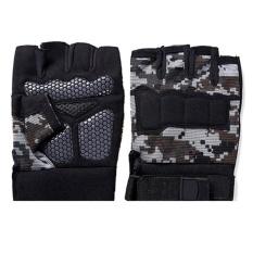 Hình ảnh Mens Breathable Tactical Half Finger Gloves Fitness Gloves Slip Resistant Mittens Camouflage - intl