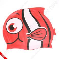 Hình ảnh Mũ bơi trẻ em hình cá ngộ nghĩnh chất liệu an toàn mang đếm cảm giác mềm mại khi đội cho bé + Quà Tặng của Shop LEPIN