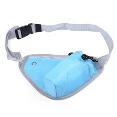 Hình ảnh Multifunctional Outdoor Portable Water Resistant Triangle Waist Pouch (Blue) - intl