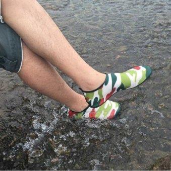 Giá ưu đãi MYLEYO Nonslip Diving Socks Skin Shoes Water Sport Yoga Exercise Beach Swimming Green M - intl so sánh