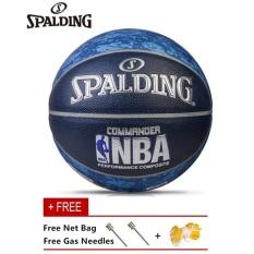 Hình ảnh MẮT KÍNH NBA Quả Bóng Rổ Spalding Chính Thức Kích Thước 7 PU Đường Bóng Rổ Miễn Phí Với Kim và Túi Lưới-quốc tế