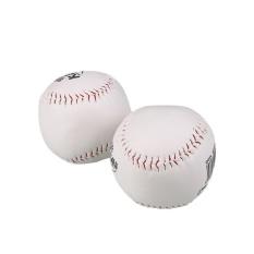Hình ảnh Newworldmall*2Pcs Trainning BaseBall Softball Base Ball Soft Leather White Outdoor Activity - intl