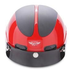 Non Bảo Hiểm Nửa Đầu Ace An01 Đỏ Đen Ace Chiết Khấu