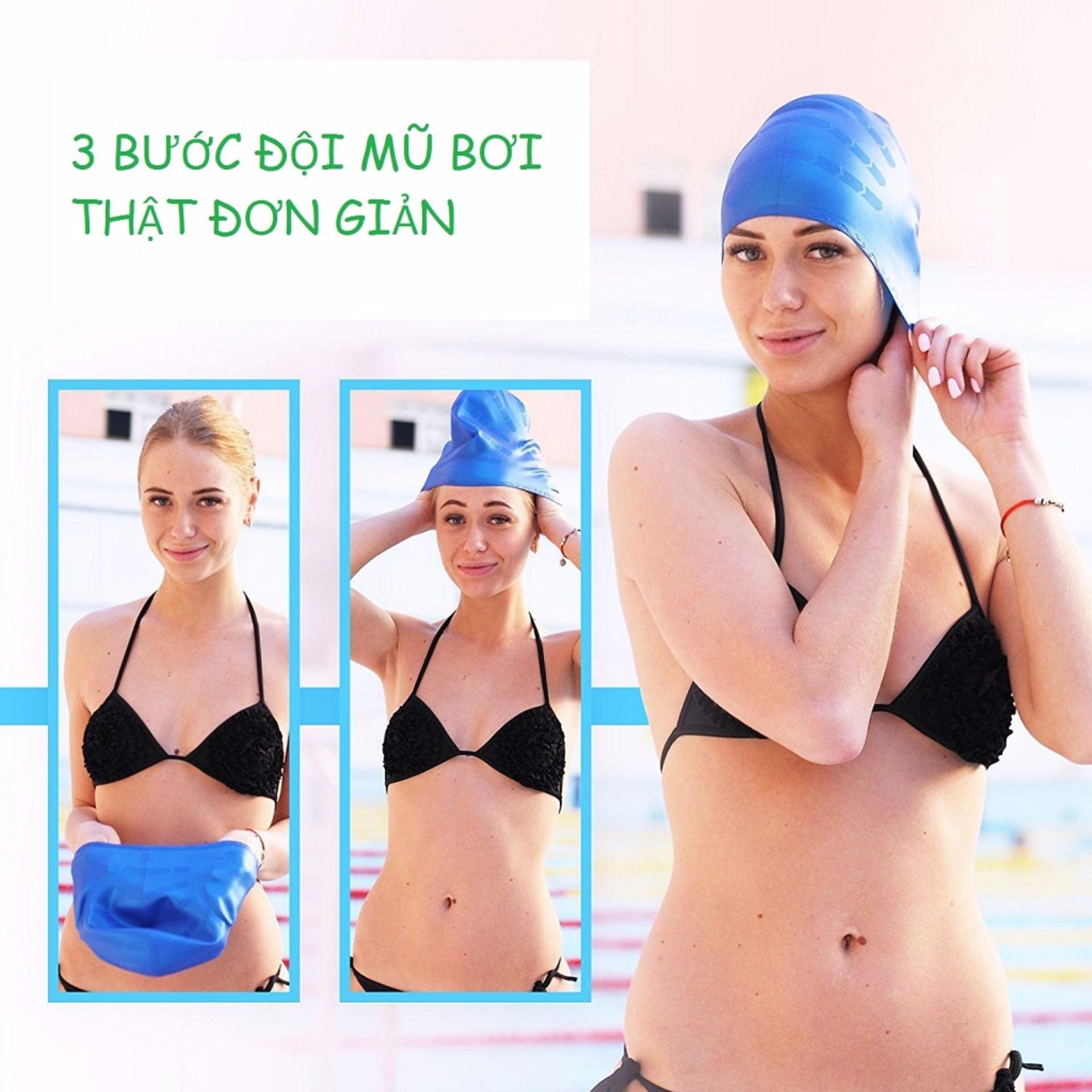 Nón bơi mũ bơi trơn silicone chống thống nước cao cấp CA31 POPO Collection 23