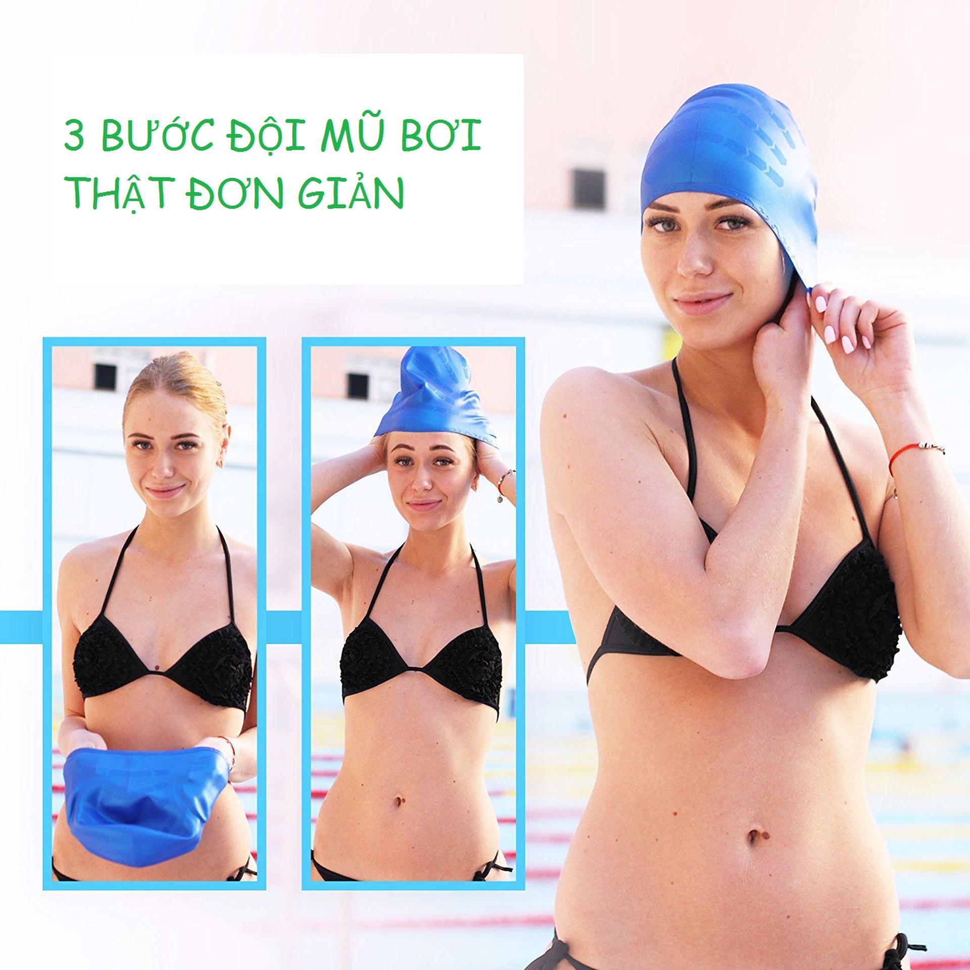 Nón bơi mũ bơi trơn silicone chống thống nước cao cấp CA31 POPO Collection - 5