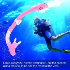 OH 198 Full Dry Breathing Tube For Diving Snorkeling Swimming Universal Equipment Pink - intl