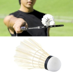 Hình ảnh OH TOTOP 4168 Natural White Goose Feather Sport Badminton Shuttlecocks Ball White - intl