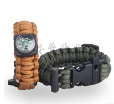 Hình ảnh OJ outdoor survival umbrella rope bracelet with flint mountaineering emergency survival bracelet camping compass bracelet - intl