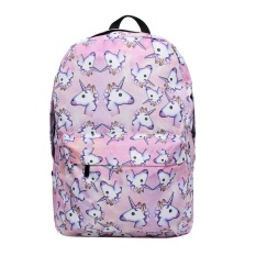 oppoing Large Capacity Unicorn Print Backpack Lightweight Outdoor Backpack Shoulder Bag School Supplies - intl
