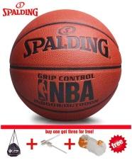 Ban đầu Spalding (74-604Y) MẮT KÍNH NBA Tán Thành Cầm Điều Khiển Trong Nhà/Ngoài Trời Thi Đấu Chính Thức Kích Thước 7 Bóng Rổ chất liệu PU bóng rổ Với Lưới + túi đựng + pin-quốc tế