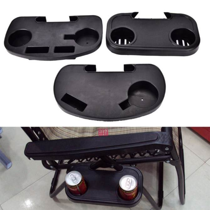 Outdoor Beach Garden Chair Side Tray For Drink Portable Folding Camping Picnic Type:C - intl