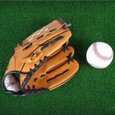 Hình ảnh Outdoor Sports Brown Practice Left Hand Softball Equipment Baseball Glove (10.5) - intl
