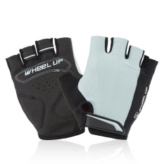 Hình ảnh Outdoor Sports Cycling Bicycle Bike Half Fingers Fingerless Gloves Universial S Grey - intl