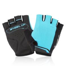 Hình ảnh Ngoài trời Xe Đạp Thể Thao Xe Đạp Xe Đạp Nửa Ngón Tay Fingerless Gloves Universial S Màu Xanh-quốc tế