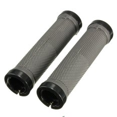 Pair Cycling Lock-on locking Handle Grips For Bicycle MTB BMX Bike Handlebar Gray - intl