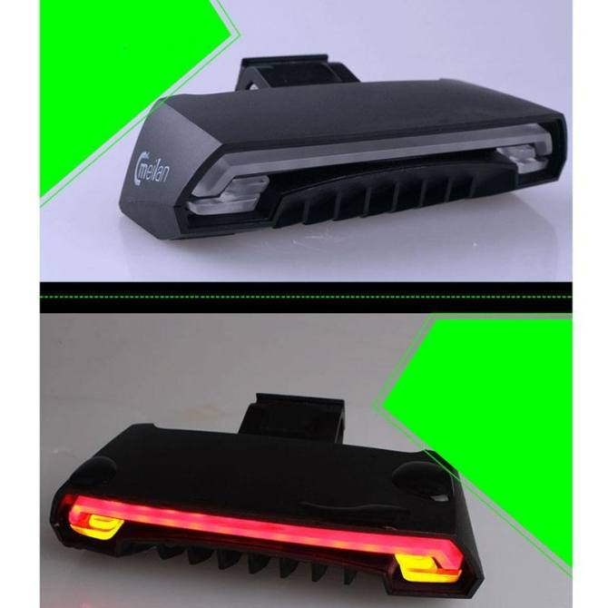 Rear Light USB Wireless Remote Control 2Laser Turn Signal Light. Source ·