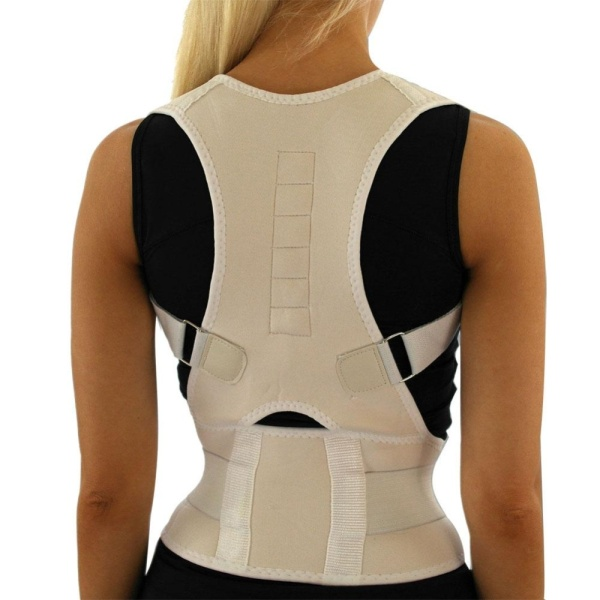 Bảng giá PAlight Sitting Posture Corrector Adjustable Magnetic Shape Body Shoulder Brace Belt(M) - intl