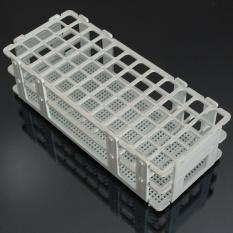 Hình ảnh Plastic 60 Positions Test Tube Stand Bracket Rack 16mm Hole White - intl
