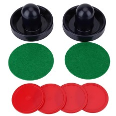 Hình ảnh Plastic Lightweight Goalies Ice Hockey Pushers Pucks Set Replacement for Tables Game - intl