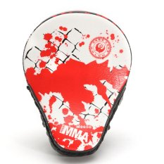 Hình ảnh PU Leather Boxing Kick Hand Target Punch Pad Glove Focus MMA Muay Thai Training - intl