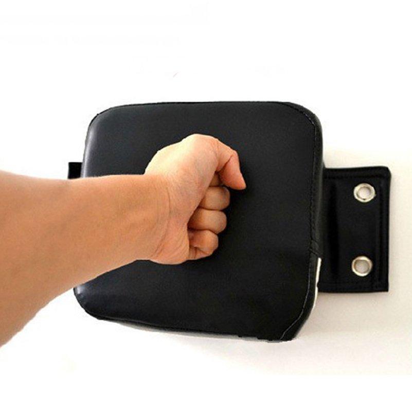 PU Wall Punch Boxing Bags Pad Focus Target Pad Wing Chun Boxing Fight Sanda Taekowndo Training Bag Sandbag Category,Black - intl