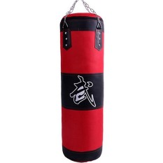 Hình ảnh Đấm Túi Da Trống Xích Treo MMA Võ Quyền Anh Huấn Luyện Nặng Túi Đá Túi 80 cm-quốc tế