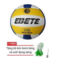 Hình ảnh Quả bóng chuyền Động Lực Ebete DL 240M3 + Tặng bộ kim bơm bóng và lưới đựng bóng