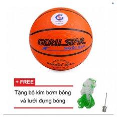 Hình ảnh Quả bóng rổ gerustar số 6 (Cam) và Tặng kim bơm bóng và lưới đựng bóng