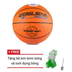 Hình ảnh Quả bóng rổ số 7 Gerustar (Cam) và Tặng kim bơm bóng và lưới đựng bóng