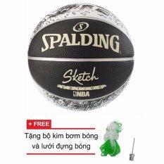 Mua Quả Bong Rổ Spalding Nba Sketch Outdoor Size7 Tặng Bộ Kim Bơm Bong Va Lưới Đựng Bong Trực Tuyến Rẻ