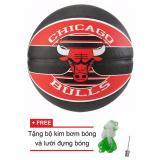 Quả Bong Rổ Spalding Nba Team Chicago Bulls Outdoor Size7 Tặng Bộ Kim Bơm Bong Va Lưới Đựng Bong Spalding Chiết Khấu