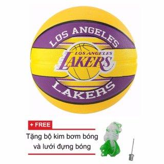 Quả bóng rổ Spalding NBA Team - Lakers Outdoor size7 (New) + Tặng bộ kim bơm bóng và lưới đựng bóng thumbnail