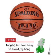 Hình ảnh Quả bóng rổ Spalding TF150 Performance Outdoor Size 7 (Ngoài trời) +Tặng bộ kim bơm bóng và lưới đựng bóng