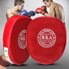Hình ảnh Red Boxing Training Mitt Target Focusing Punch Pad Glove MMA Karate Muay Thai Kick Sanda Pads Sport Gloves - intl