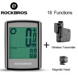 Rockbros Waterproof Bicycle Computer Lcd Backlight Stopwatch Wireless Cycling Bike Computer Speedometer Odometer Mtb Accessories Intl Trong Trung Quốc