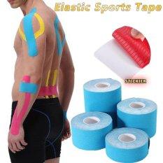 Hình ảnh Rocktape Kinesiology Elastic Sports Tape Physio Running Football CrossFit 5cmX5m(Light Blue) - intl