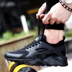 SDP Mới Đến 2017 KHÔNG KHÍ CỰC zapatos thể thao ngoài trời sneakers Nam Unisex Cặp Đôi Giày Chạy Bộ (Đen) -quốc tế