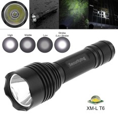 Ôn Tập Tốt Nhất Securitying Waterproof Flashlight Cree Xm L T6 Led Torch Lamp With 5 Switch Modes And Handles Rope For Household Outdoor Activities Intl