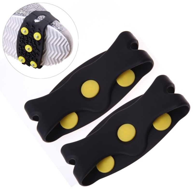 Mua \ Snow Ice Climbing Anti Slip Spikes Grips Crampon Cleats 5-Stud Shoes Cover ISP - intl