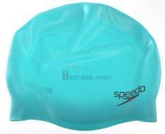 Ôn Tập Speedo Beach Swimwear Mũ Bơi 8 709846521 Plain Moulded Silicone Cap Xanh Speedo Beach Swimwear
