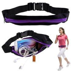 Hình ảnh Sports Hip Pack Belly Waist Bum Bags Fitness Running Jogging Cycling Belt Pouch Purple - intl