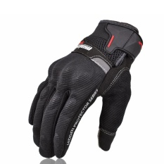 Summer Breathable Madbike Motorcycle Gloves Cycling Racing Moto Gloves Motorbike Protect Bicycle Gloves Screen Touch - BLACK - intl