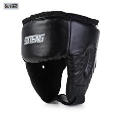 Hình ảnh SUTENG Martial Art Boxing Free Combat Helmet Taekwondo Wrestle Head Guard Protector - intl